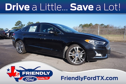 Featured New 2019 Ford Fusion Titanium Sedan for Sale in Crosby, TX