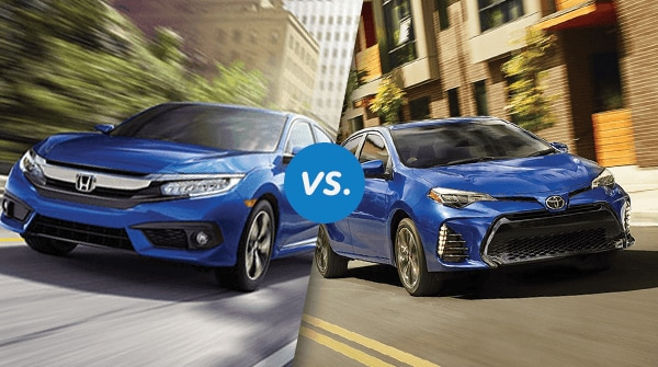 Corolla Vs Civic >> Comparison 2018 Honda Civic Vs 2019 Toyota Corolla