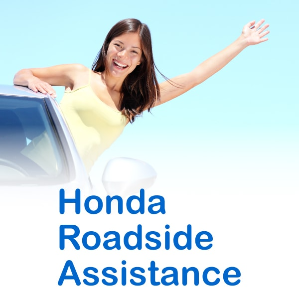 24 Hour Roadside Service. With The Honda Roadside Assistance ...