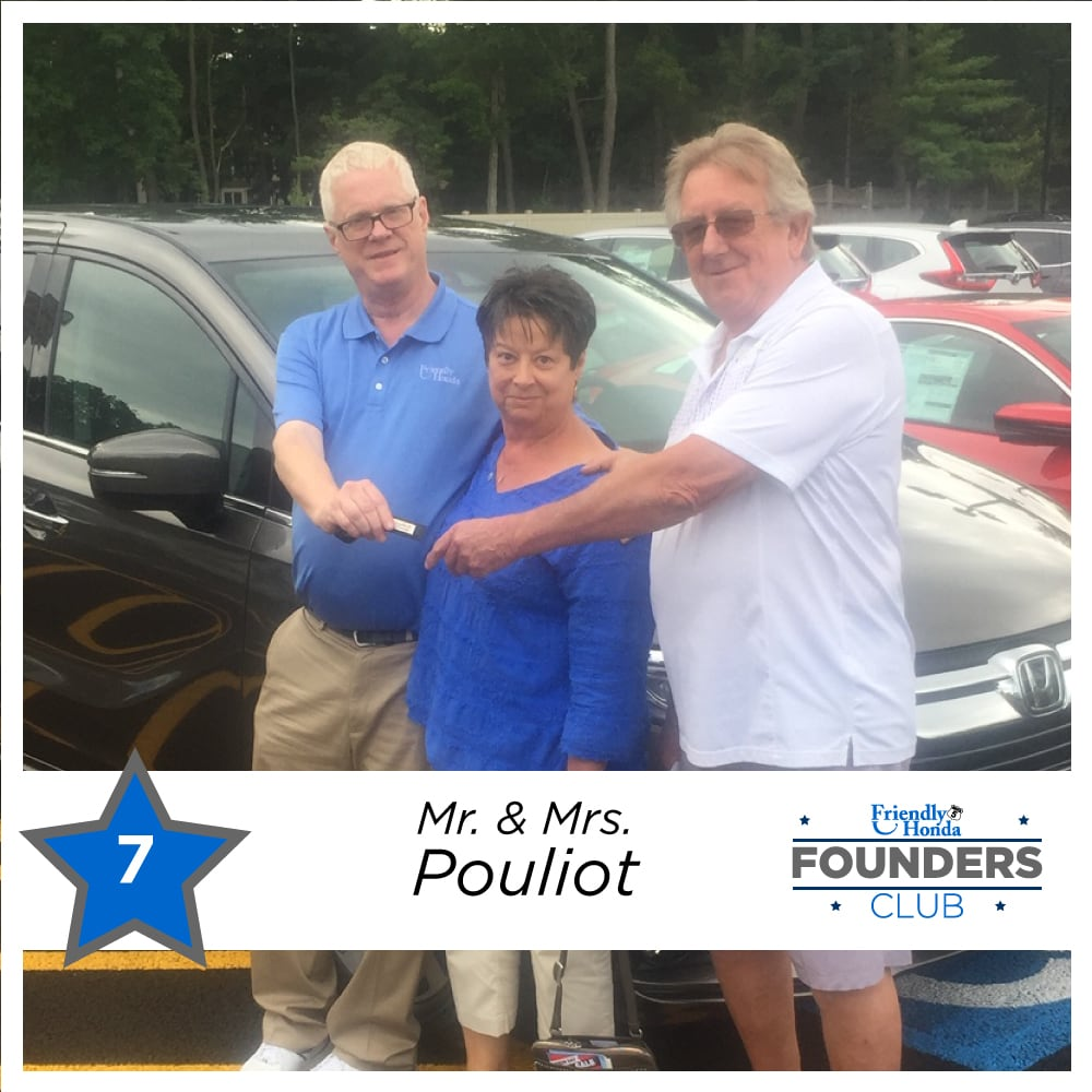 Friendly Honda Founders Club Member 7 Mr. and Mrs. Pouliot