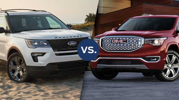 Comparison: 2018 Ford Explorer vs 2018 GMC Acadia