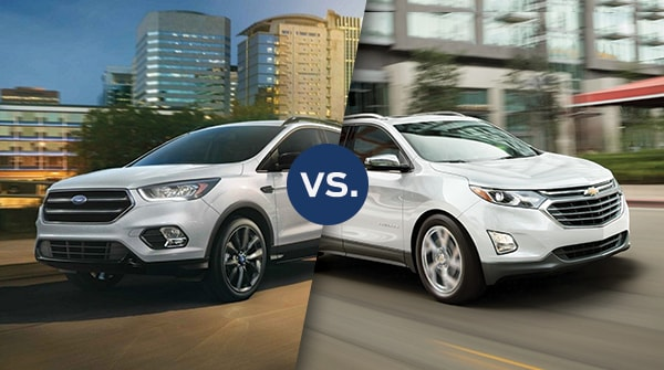 Comparison: 2019 Ford Escape vs 2019 Chevy Equinox