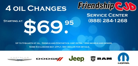 Body Shop Specials | Friendship Chrysler Jeep Dodge RAM of