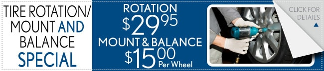 Rotate & Balance Tires Coupon, Santa Clara