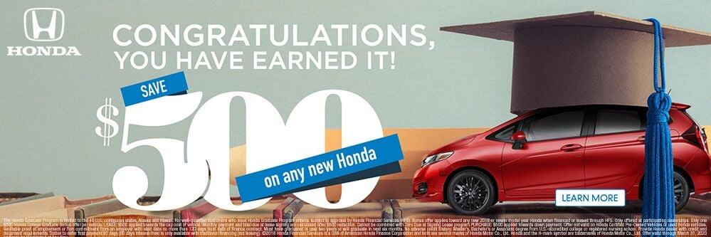 Honda College Grad Graduation Specials Frontier Honda in