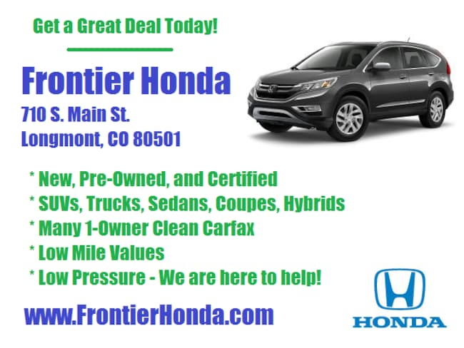New 2019 Honda Accord EX-L Sedan For Sale /Lease Longmont, Colorado