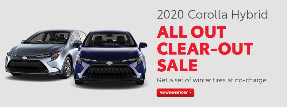 2020 Corolla Hybrid All Out Clear-Out Sale