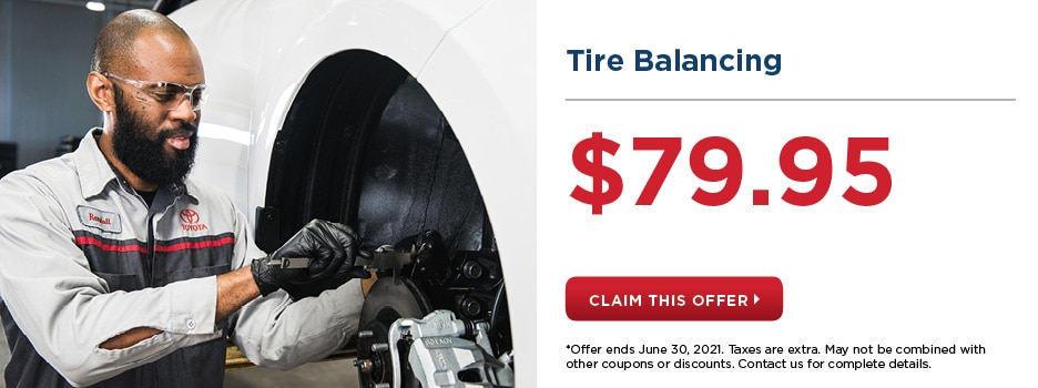 Tire Balancing for $79.95