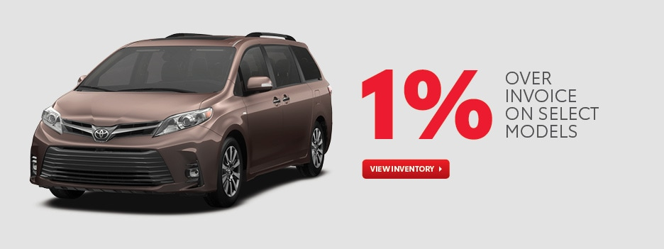 1% Over Invoice on select models