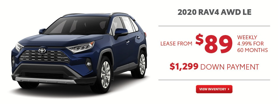 2020 RAV4 AWD LE July Offer