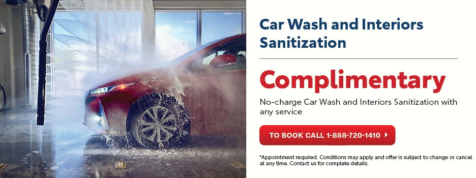 Complimentary Car Wash and Interiors Sanitization
