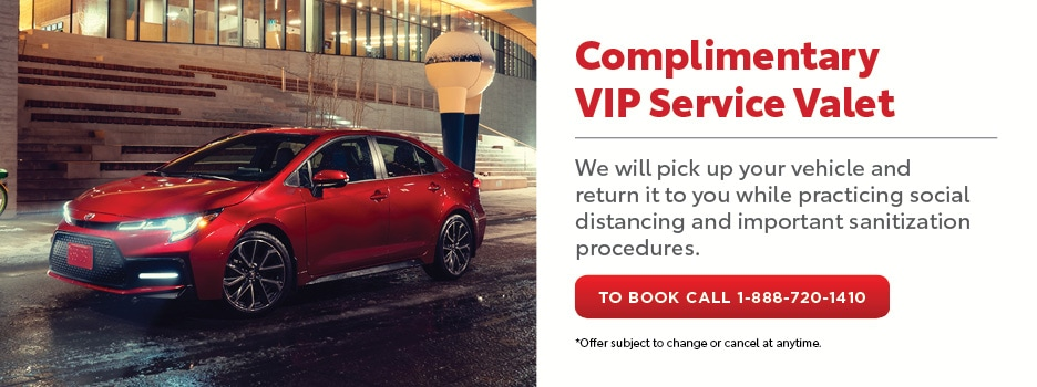 Complimentary VIP Service Valet