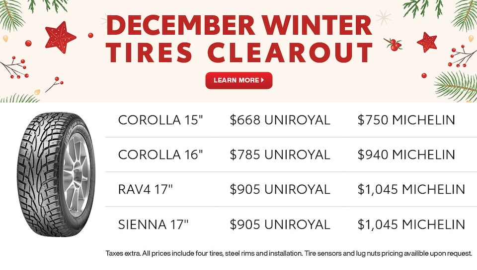 Winter Tires Clearout