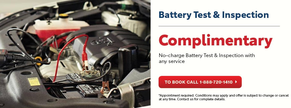 Complimentary Battery Test & Inspection