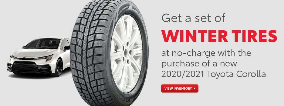 No-Charge Winter Tires with Purchase