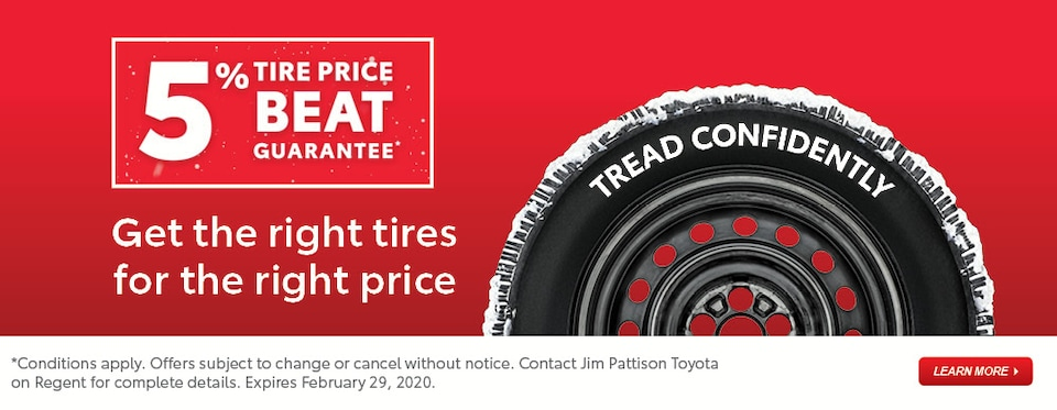5% Tire Price Beat Guarantee