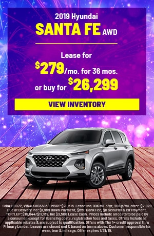 Hyundai Santa Fe Special Offer
