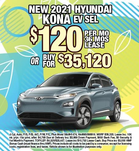 Hyundai Kona EV Lease & Purchase Special Offer