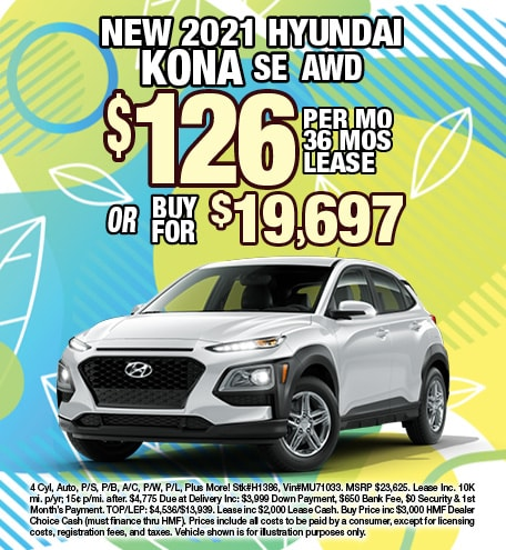 Hyundai Kona Lease & Purchase Special Offer