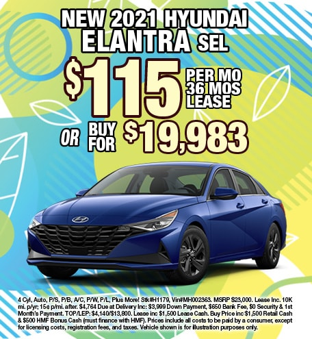 Hyundai Elantra Lease & Purchase Special Offer