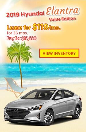Hyundai Elantra Value Edition Special Offer