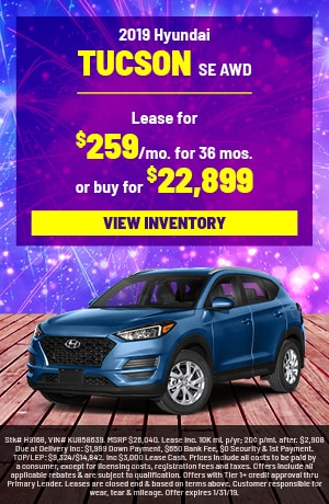 Hyundai Tucson Special Offer