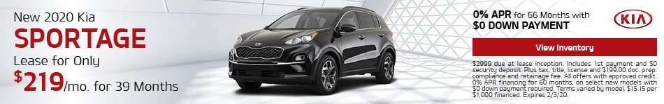 New 2020 Kia Sportage | Lease Offer