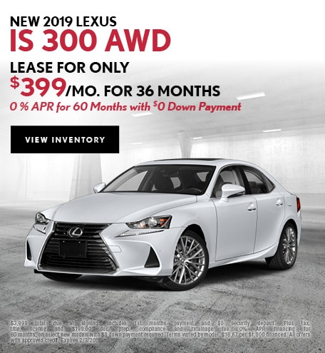 New 2019 Lexus IS 300 AWD | Lease/APR