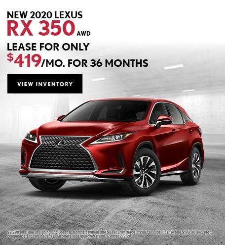 New 2020 Lexus RX 350 AWD | Lease