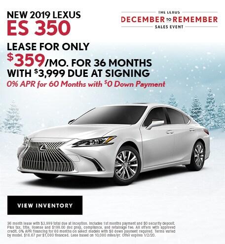New ES 350 December Offer