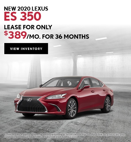 New 2020 Lexus ES 350 | Lease