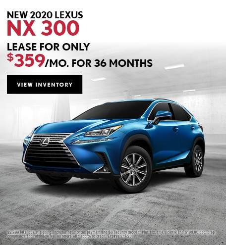 New 2020 Lexus NX 300 | Lease