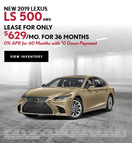 New 2019 Lexus LS 500 AWD | Lease/APR