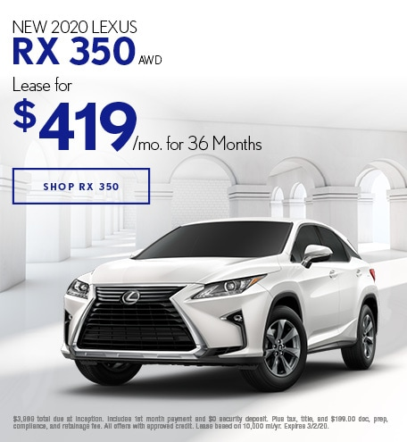 New 2020 Lexus RX 350 | Lease Offer