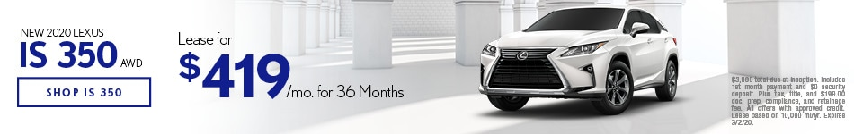 New 2020 Lexus IS 350 | Lease Offer