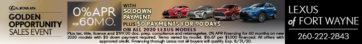 0% APR for 60 Months - ON ALL 2020 LEXUS MODELS