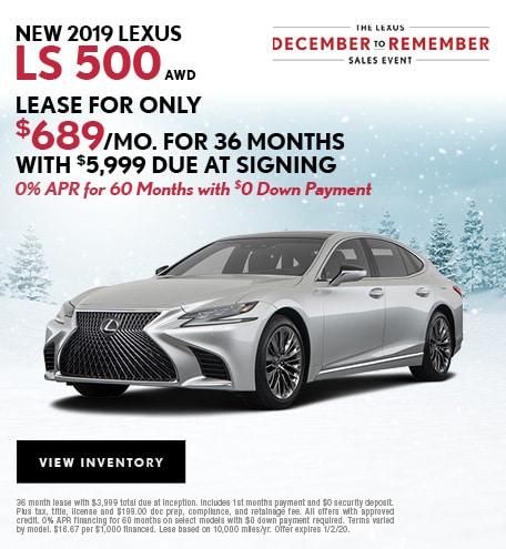 New LS 500 December Offer