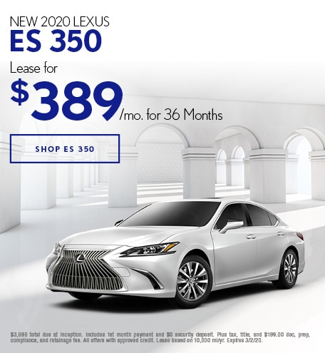 New 2020 Lexus ES 350 | Lease Offer