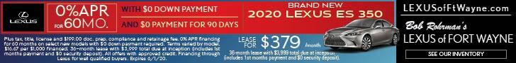 Brand New 2020 LEXUS ES 350