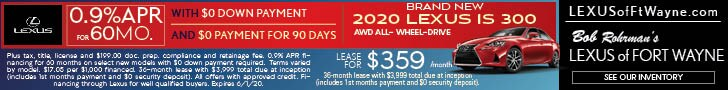 Brand New 2020 LEXUS IS 300 AWD