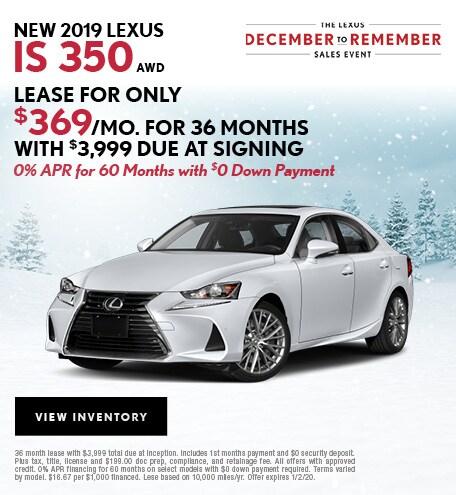 New IS 350 December Offer