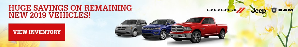 HUGE Savings on remaining new 2019 vehicles!