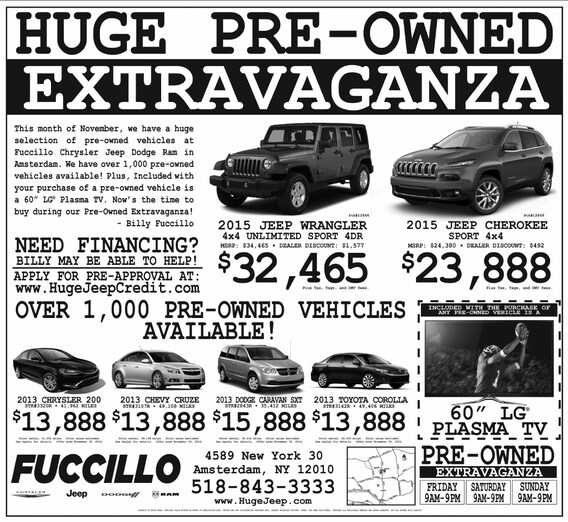 november huge preowned sale fuccillo chrysler jeep dodge fuccillo chrysler jeep dodge