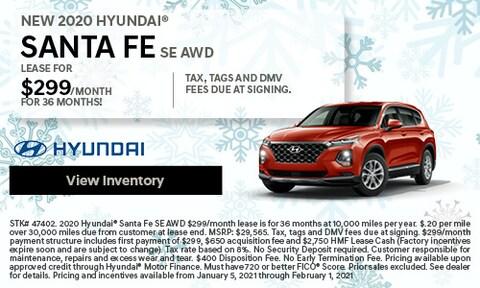 NEW 2020 Hyundai® Santa Fe SE AWD