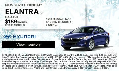 NEW 2020 Hyundai® Elantra SE