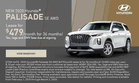 NEW 2020 Hyundai® Palisade SE AWD