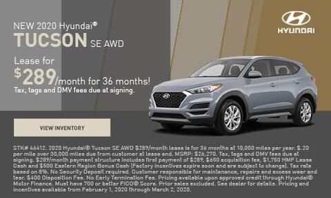 NEW 2020 Hyundai® Tucson SE AWD