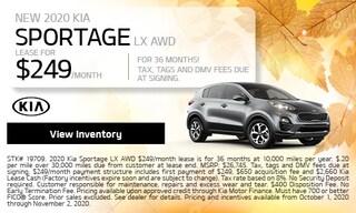 NEW 2020 Kia Sportage LX AWD