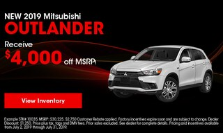 New 2019 Mitsubishi Outlander