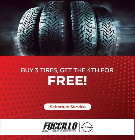 Buy 3 tires, get the 4th for Free!
